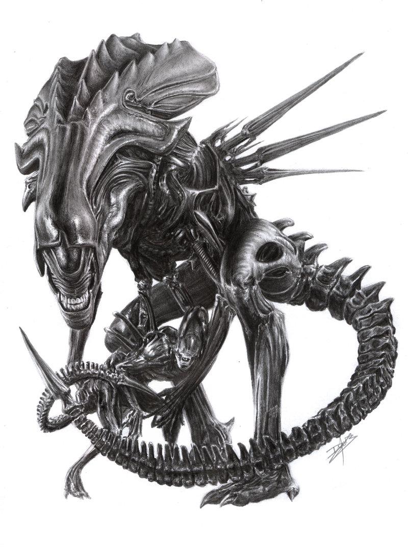 La reine Alien trinque avec les Poilus – L'atelier de ... Xenomorph Queen